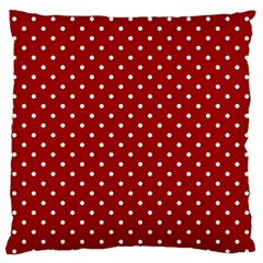 Red Polka Dots Standard Flano Cushion Case (two Sides) by jumpercat