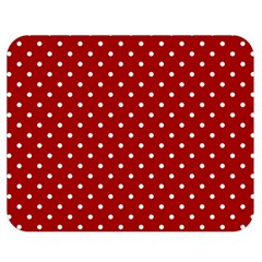 Red Polka Dots Double Sided Flano Blanket (medium)
