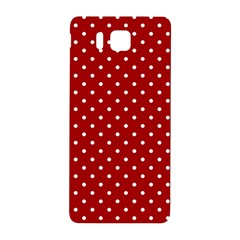 Red Polka Dots Samsung Galaxy Alpha Hardshell Back Case by jumpercat