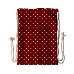 Red Polka Dots Drawstring Bag (small) by jumpercat