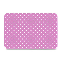 Pink Polka Dots Plate Mats by jumpercat