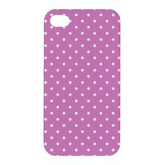 Pink Polka Dots Apple Iphone 4/4s Hardshell Case by jumpercat