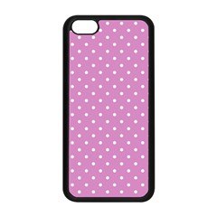 Pink Polka Dots Apple Iphone 5c Seamless Case (black) by jumpercat