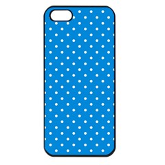 Blue Polka Dots Apple Iphone 5 Seamless Case (black) by jumpercat
