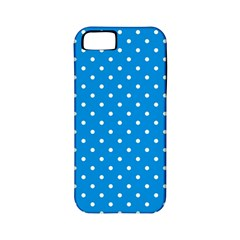 Blue Polka Dots Apple Iphone 5 Classic Hardshell Case (pc+silicone)