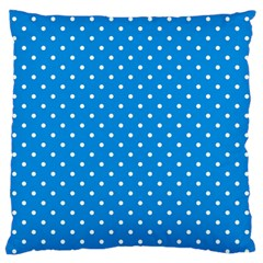 Blue Polka Dots Standard Flano Cushion Case (two Sides) by jumpercat