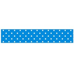 Blue Polka Dots Large Flano Scarf  by jumpercat
