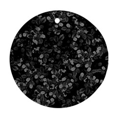 Dark Leaves Round Ornament (two Sides)