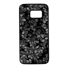 Dark Leaves Samsung Galaxy S7 Black Seamless Case by jumpercat