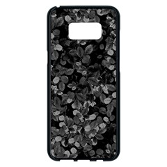 Dark Leaves Samsung Galaxy S8 Plus Black Seamless Case by jumpercat