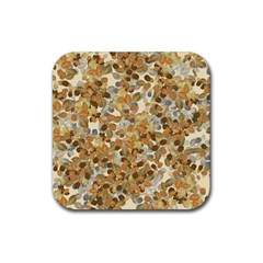 Leaves Autumm Rubber Square Coaster (4 Pack)