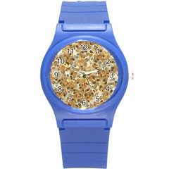 Leaves Autumm Round Plastic Sport Watch (s) by jumpercat