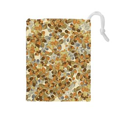 Leaves Autumm Drawstring Pouches (large)