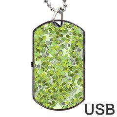 Leaves Fresh Dog Tag Usb Flash (one Side) by jumpercat