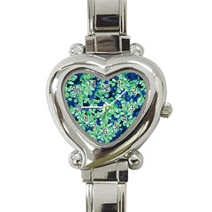Moonlight On The Leaves Heart Italian Charm Watch by jumpercat
