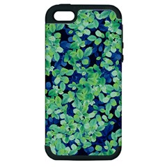 Moonlight On The Leaves Apple Iphone 5 Hardshell Case (pc+silicone) by jumpercat