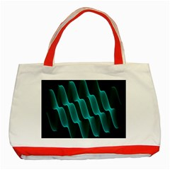 Background Light Glow Blue Green Classic Tote Bag (red) by Nexatart