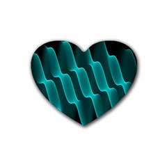 Background Light Glow Blue Green Heart Coaster (4 Pack)
