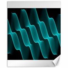 Background Light Glow Blue Green Canvas 11  X 14