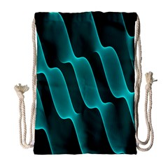 Background Light Glow Blue Green Drawstring Bag (large)