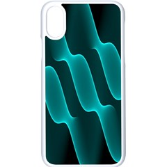 Background Light Glow Blue Green Apple Iphone X Seamless Case (white)