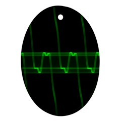 Background Signal Light Glow Green Ornament (oval)