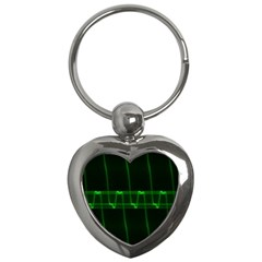 Background Signal Light Glow Green Key Chains (heart)  by Nexatart