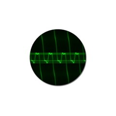 Background Signal Light Glow Green Golf Ball Marker