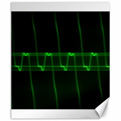 Background Signal Light Glow Green Canvas 20  X 24