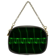 Background Signal Light Glow Green Chain Purses (one Side)  by Nexatart
