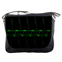 Background Signal Light Glow Green Messenger Bags