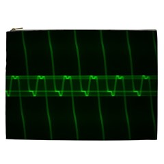 Background Signal Light Glow Green Cosmetic Bag (xxl)