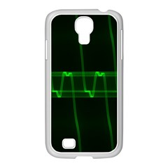 Background Signal Light Glow Green Samsung Galaxy S4 I9500/ I9505 Case (white)