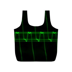 Background Signal Light Glow Green Full Print Recycle Bags (s)  by Nexatart