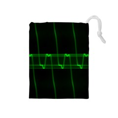 Background Signal Light Glow Green Drawstring Pouches (medium)  by Nexatart