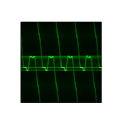 Background Signal Light Glow Green Satin Bandana Scarf