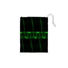 Background Signal Light Glow Green Drawstring Pouches (xs)  by Nexatart