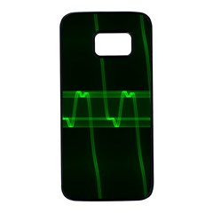 Background Signal Light Glow Green Samsung Galaxy S7 Black Seamless Case