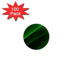 Background Light Glow Green 1  Mini Magnets (100 Pack)