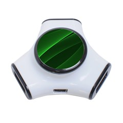 Background Light Glow Green 3 Port Usb Hub