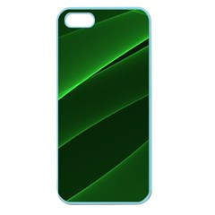 Background Light Glow Green Apple Seamless Iphone 5 Case (color)