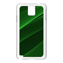 Background Light Glow Green Samsung Galaxy Note 3 N9005 Case (white)