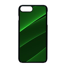 Background Light Glow Green Apple Iphone 7 Plus Seamless Case (black)