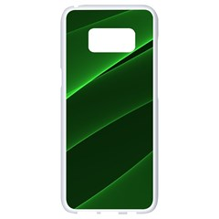 Background Light Glow Green Samsung Galaxy S8 White Seamless Case