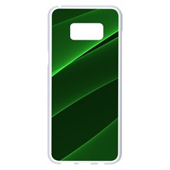 Background Light Glow Green Samsung Galaxy S8 Plus White Seamless Case by Nexatart