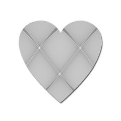 Background Light Glow White Grey Heart Magnet by Nexatart