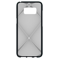 Background Light Glow White Grey Samsung Galaxy S8 Black Seamless Case