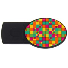 Abstract Background Abstract Usb Flash Drive Oval (4 Gb)