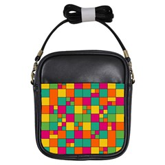 Abstract Background Abstract Girls Sling Bags by Nexatart