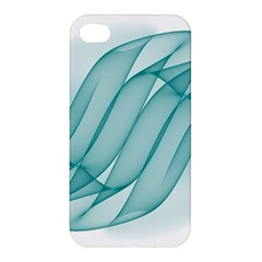 Background Light Glow Blue Apple Iphone 4/4s Premium Hardshell Case